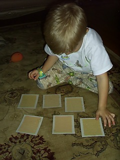sandpaper grades sensory matching game