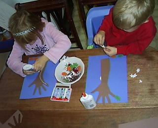 arm and hand print trees (3)
