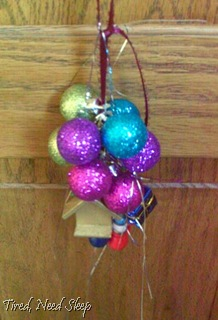 ornaments on a ribbon