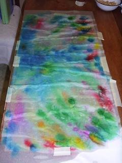 dot painters on wet paper towels