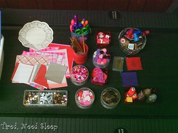 valentine art box supplies