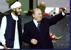 gheddafi jr e blatter