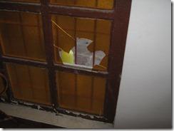 ventanal del pasillo roto por piedra que me tiraron1