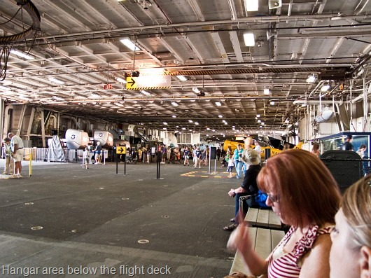 © Bob Baillargeon - USS Midway - hangar area below flight deck