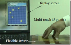 Flexible electronics sensors for tactile multi-touching