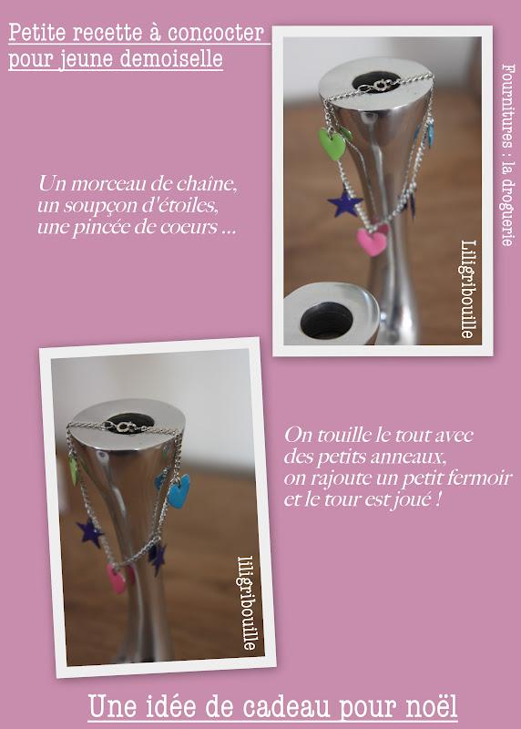 id e de cadeau de no l bracelet pour jeune fille le blog de liligribouille. Black Bedroom Furniture Sets. Home Design Ideas