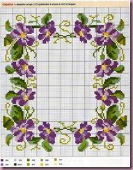 violetas porta retrato - cole%C3%A7%C3%A3o DMC-1