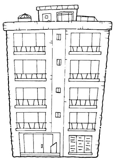Para colorear edificios - Imagui
