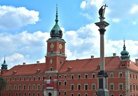 Sigismund's column and Royal castle at Warsaw