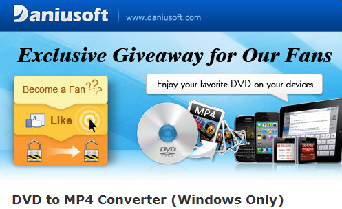 Download Daniusoft DVD to MP4 Converter for FREE