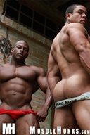 3 MuscleHunks - Orso, Pablo, Augusto wrestle!