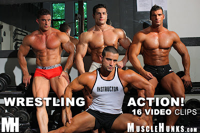 MuscleHunks Amergo Jackson, Tom Anderson, Macho Nacho & Jack Dreyfuss - Wrestling