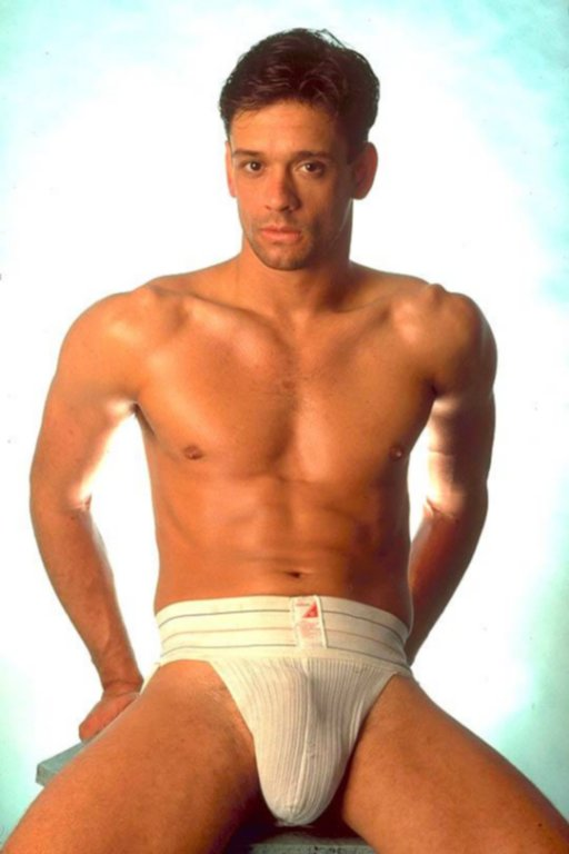 A hot white muscular guy stripping dance 3