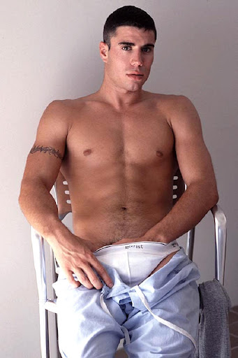 A hot white muscular guy stripping dance 7