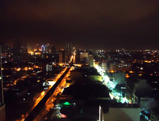 Manila nighttime skyline