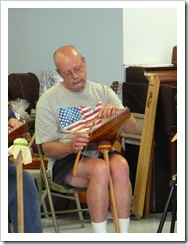 Randy playing psaltery