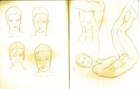 Sketch do dia - anatomia menino