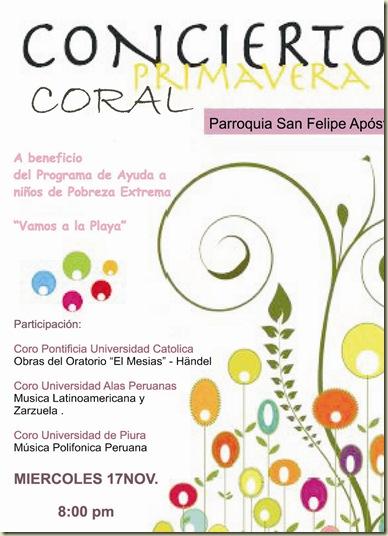 afiche concierto coral pro vap 2010