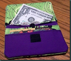 purple  and green wallet 1
