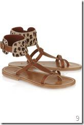 K Jacques St Tropez Caravelle leopard-print sandals