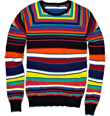 Jil Sander Striped Knitted Cotton Sweater