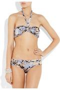 Zimmermann Thistle floral-print halterneck bikini b