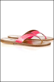 K Jacques St Tropez Popee patent-leather flip-flops