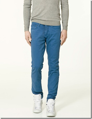 Zara Man Jeans Colours Blue