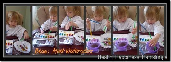 bean and watercolors
