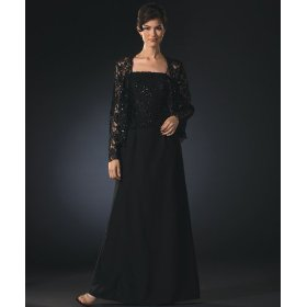 Fashionable Shoes: Beaded Lace Formal Evening Dress and Jacket