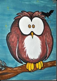 Owl in loo