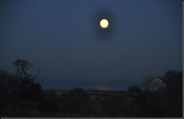 Moonlight across the Solent Jan 11