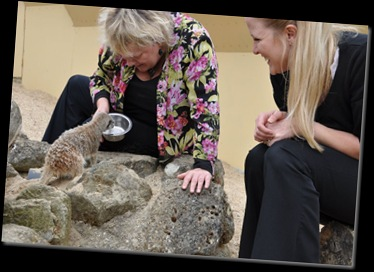 Alex &amp; Kate with Meerkats 0523