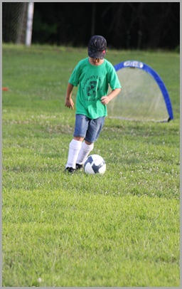 Landon playing soccer 2009
