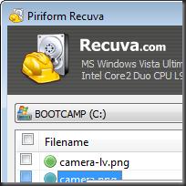 Recuva File Recovery โปรแกรมกู้ไฟล์
