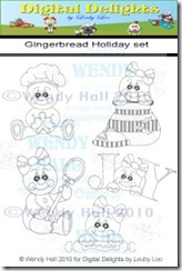 Gingerbread holiday set watermark