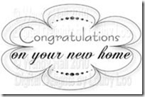 Congratulations new home sentiment
