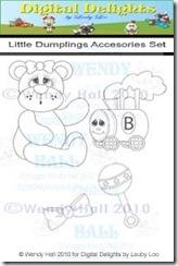 Little Dumplings Accessories set watermark