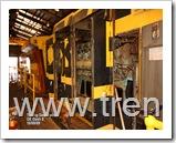 Locomotora G.E. DASH 8, en reparaciones ya que tenia problemas en el engranaje de distribucion