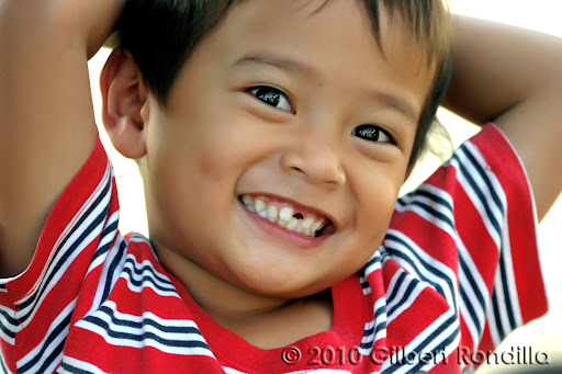 Asian boy smiling, Philippines