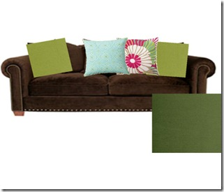 Brown Couch and Pillows