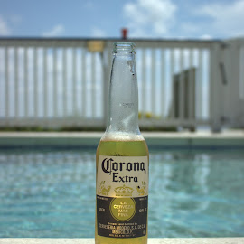 Poolside Beer by Ashley Alandt - Food & Drink Alcohol & Drinks ( vacation, corona, pool, summer )