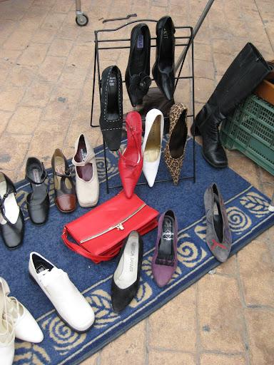 sección de zapatos