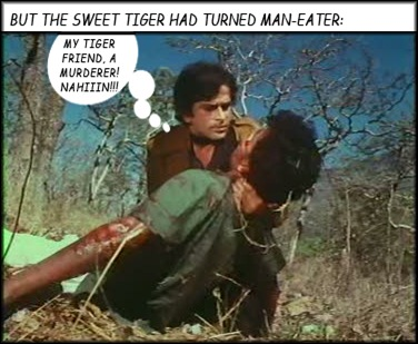 Shashi sees a man killed by the tiger