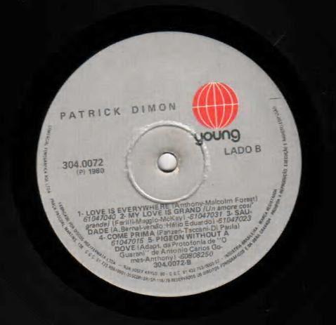 Patrick Dimon - She's A Lady / Come Prima