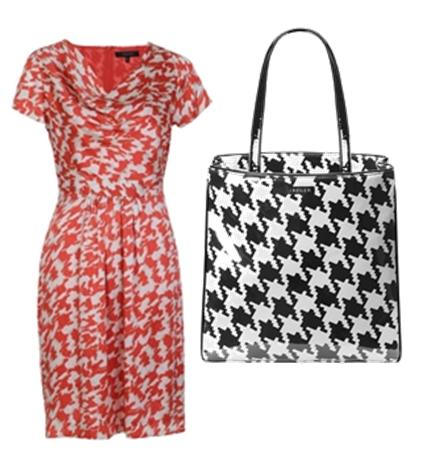 How to wear Houndstooth - Houndstooth dress and bag by Jaeger