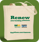Discovery Education Renew reusable tote bag