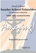 Sunday School Printables