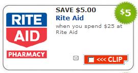 Rite Aid 5 off 25
