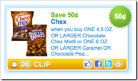 Chex Mix 50 cents off Chex Mix